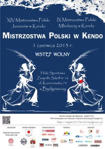 MistrzostwaPolskiJuniorowIMlodziezy_Kendo_2013_plakat